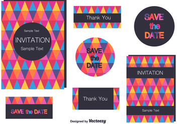 Wedding Invitation Cards - vector gratuit #201207