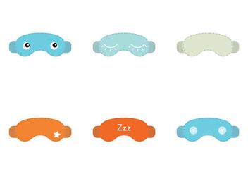 Free Sleep Mask Vector Illustration - Free vector #201247