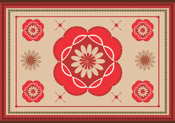 Area rug colorful vector - Free vector #201277
