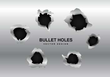 Vector metal bullet hole - vector gratuit #201307
