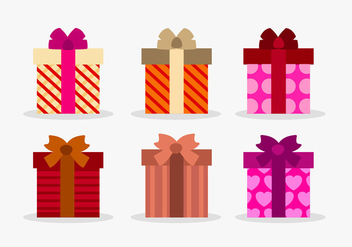 Set of vectir gift boxes - vector gratuit #201327