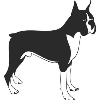 Free Boxer Dog Vector - Free vector #201747