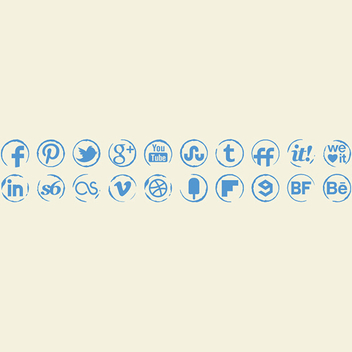 Sketch Vector Stamp Icons Set - Kostenloses vector #202027