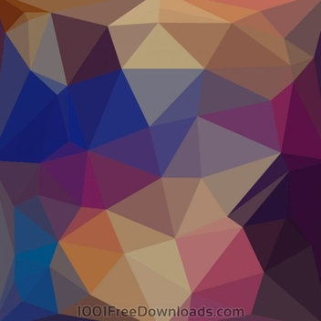 Polygonal Geometric Background - vector gratuit #202057