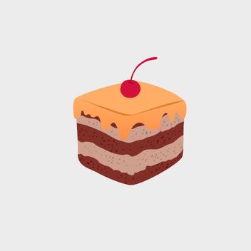 Cute Vector Cupcake - Free vector #202077