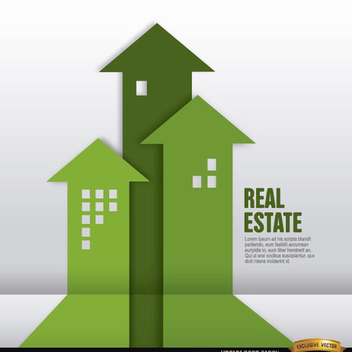 Real Estate Vector Infographic - vector gratuit #202157