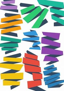 Flat Vector Ribbons - Free vector #202187