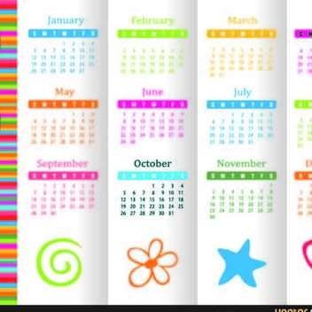 Free Vector 2014 Calendar - Kostenloses vector #202237