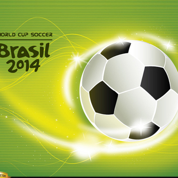 Free Vector Soccer World Cup 2014 Background - vector gratuit #202247