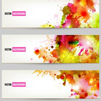 Free Vector Splatter Banners - vector #202367 gratis
