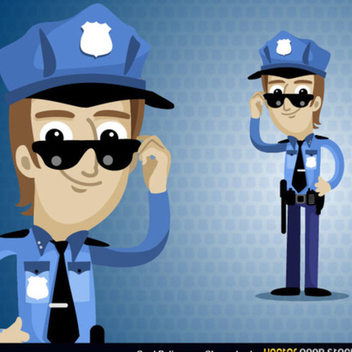 Free Vector Policeman Cartoon Character - Kostenloses vector #202397