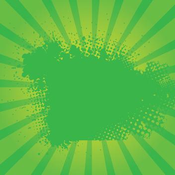 Green Grunge Sunburst Vector - Free vector #202507