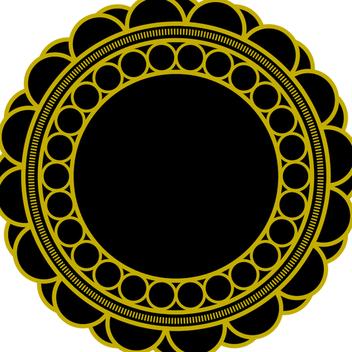 Free Circular Floral Vector Ornament - Kostenloses vector #202577