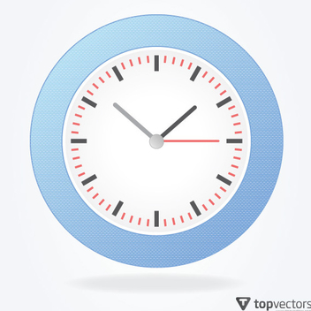 Simple Analog Vector Clock - Free vector #202747