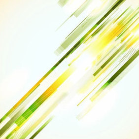 Green Lines Abstract Vector Background - Free vector #202847