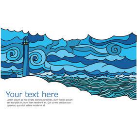 Landscape Postcard - vector gratuit #202857