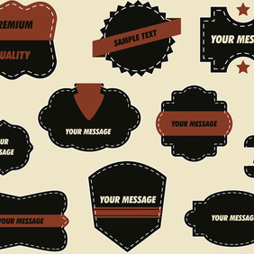 Vector Ornate Labels - Kostenloses vector #203137