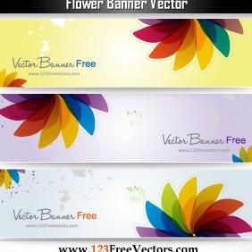 Flower Banner Vector - Free vector #203157