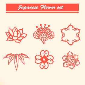 Japanese Floral Vector Set 2 - Kostenloses vector #203167