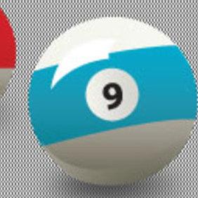Free Vector 9 Ball - Kostenloses vector #203357