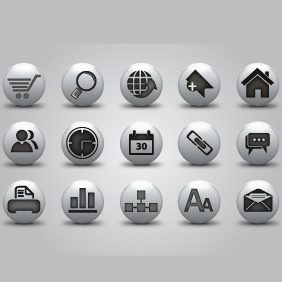 Web Buttons Icon Pack - Kostenloses vector #203467