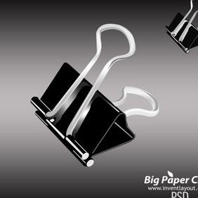 Big Paper Clip Psd - vector gratuit #203737