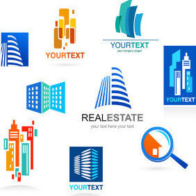Real Estate Logos - Free vector #203757