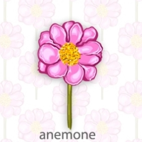 Anemone Flower - Free vector #203977