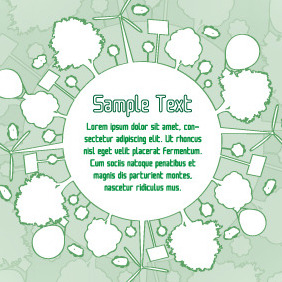 Eco Green Banner Design - Free vector #204057