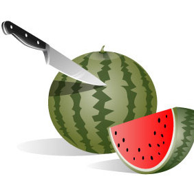 Watermelon Vector - Free vector #204097