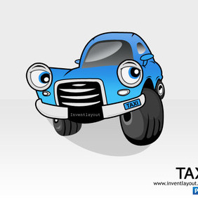Taxi Car PSD - Free vector #204127