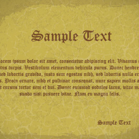 Old Paper Card Design - Free vector #204277