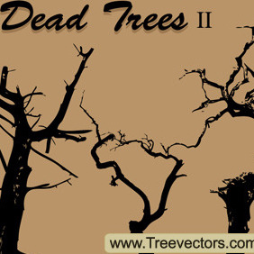 Free Dead Tree Silhouette Vector - Free vector #204737