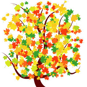 Autumn Tree Vector - Free vector #204997