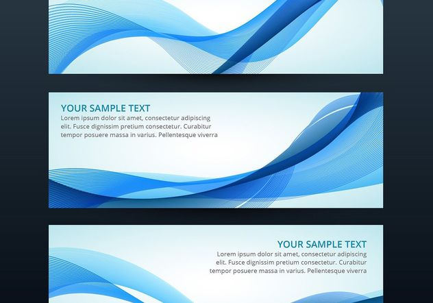 Set of vector wave banner - Free vector #205107