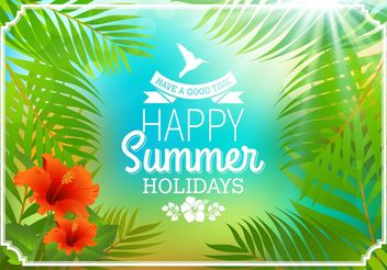 Tropical Summer Poster - vector #205127 gratis