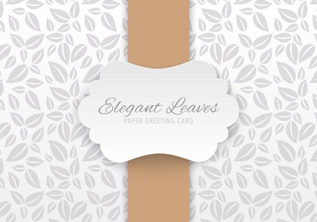 Tarjeta de felicitación de papel elegante - vector #205137 gratis