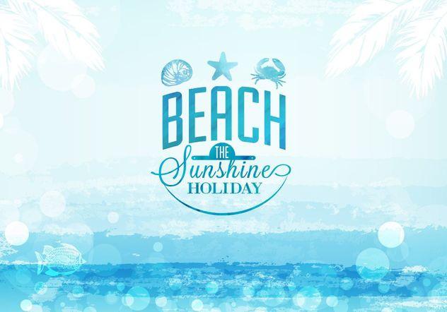 Watercolor Summer Seascape - Free vector #205167