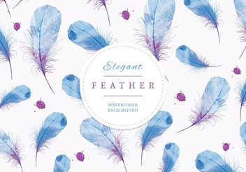 Watercolor Feathers Background - бесплатный vector #205207