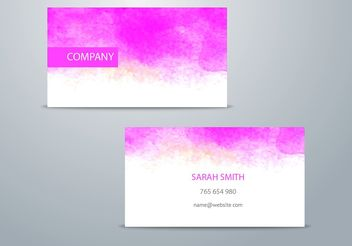 Watercolor Business Card Template - vector gratuit #205217