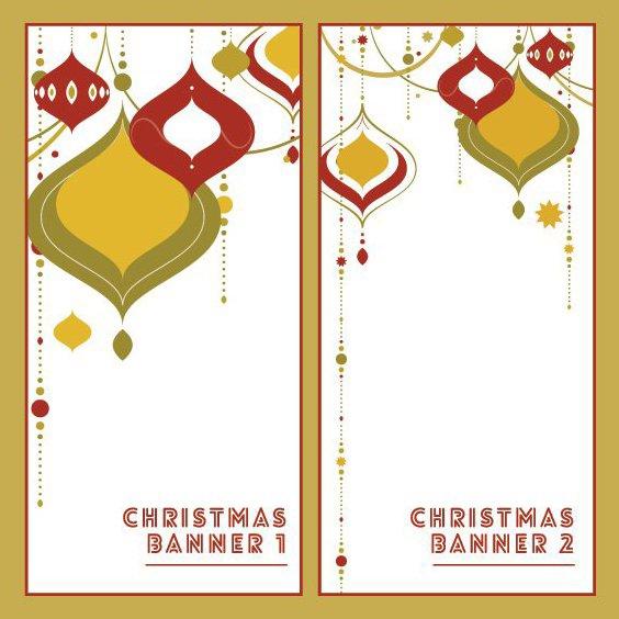 Deco de Noël bannières - vector gratuit #205237