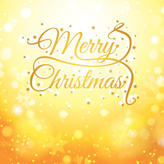 Tarjeta de oro de Navidad - vector #205257 gratis