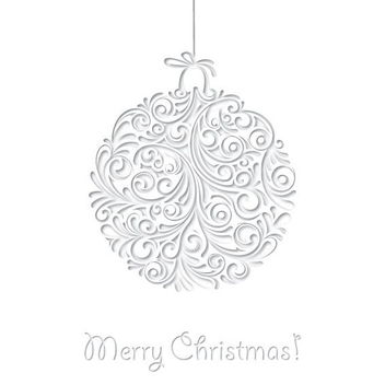 White Christmas Card - vector gratuit #205267