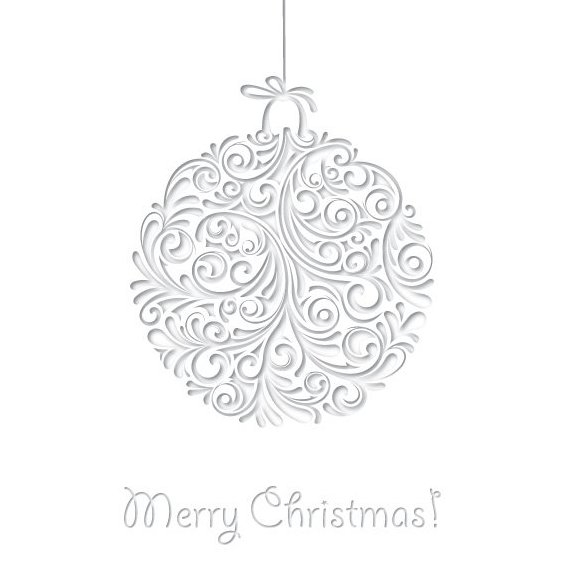 White Christmas Card - Free vector #205267