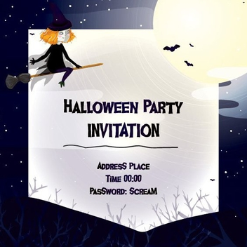 Halloween Invitation - vector gratuit #205327
