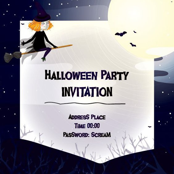 Invitation d'Halloween - vector gratuit #205327
