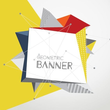 Geometric Banner - Free vector #205447
