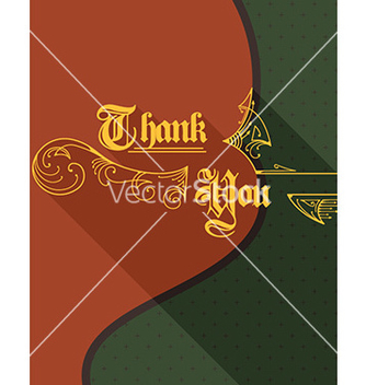 Free thank you vector - бесплатный vector #205537