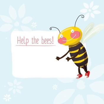 Help The Bees - vector gratuit #205657