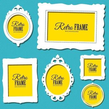 Retro Frames - vector #205737 gratis